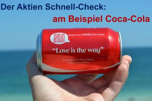 Aktien analysieren: Der Schnell-Check am Beispiel von Coca-Cola
