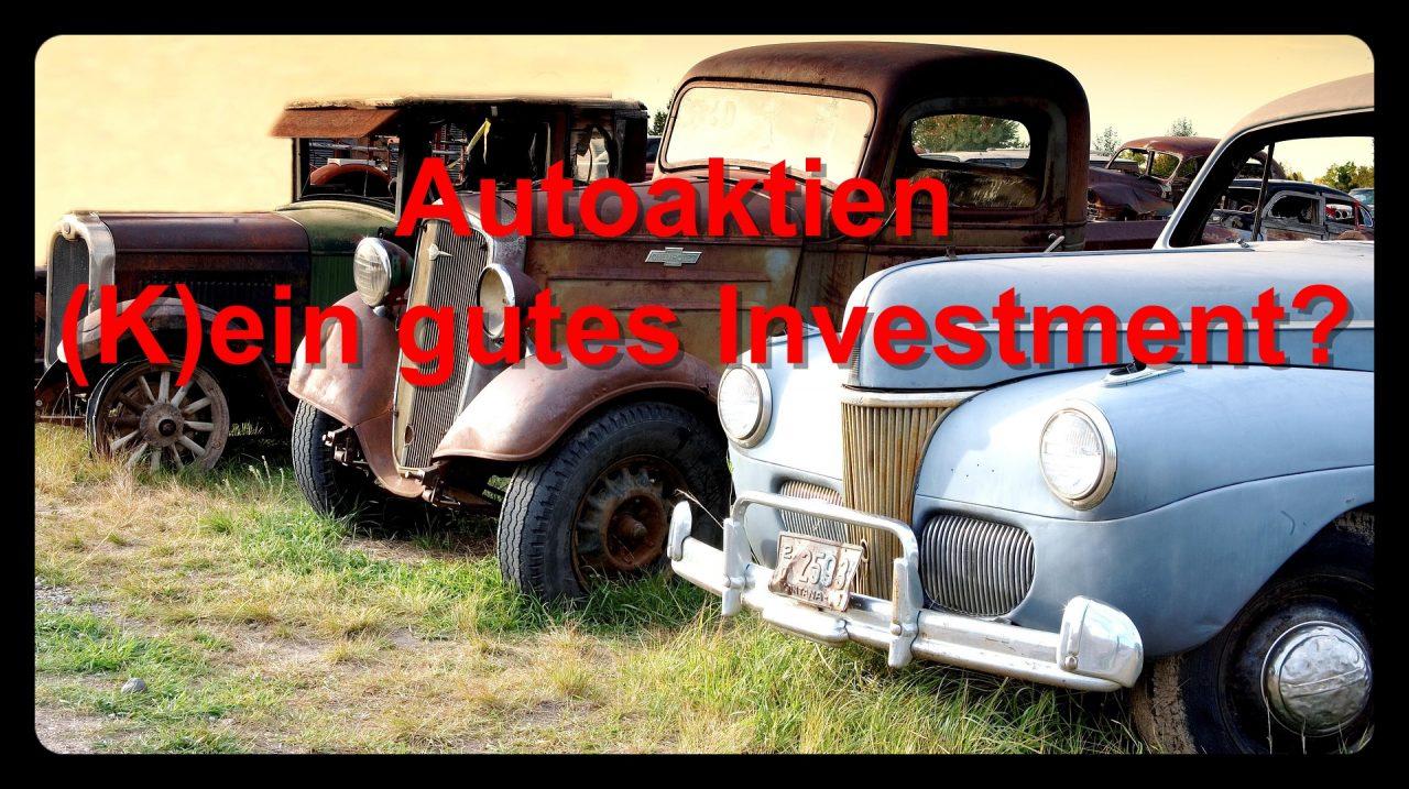 Autoaktien – (K)ein gutes Investment?